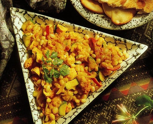 Curried Vegetables White Beans