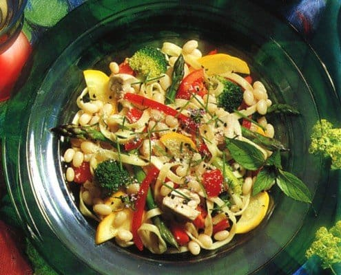 Linguini with White Beans and Vegetables