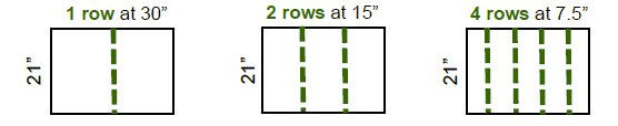 Soybean row calculation