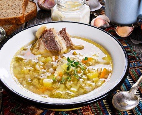 Beef Barley Soup image