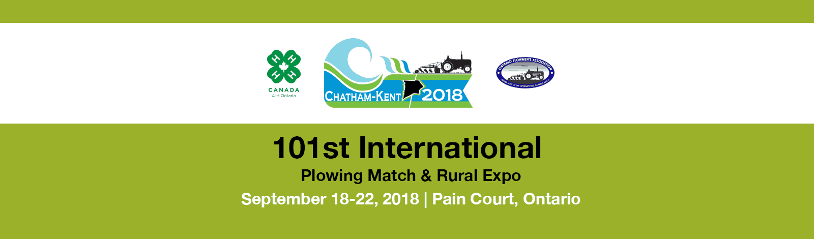 International Plowing Match 2018 banner graphic