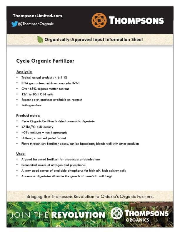 Cycle Organic Fertilizer