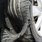 Tire explosion photo