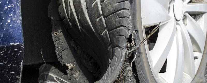 Tire explosion photo