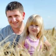 Father daughter farming