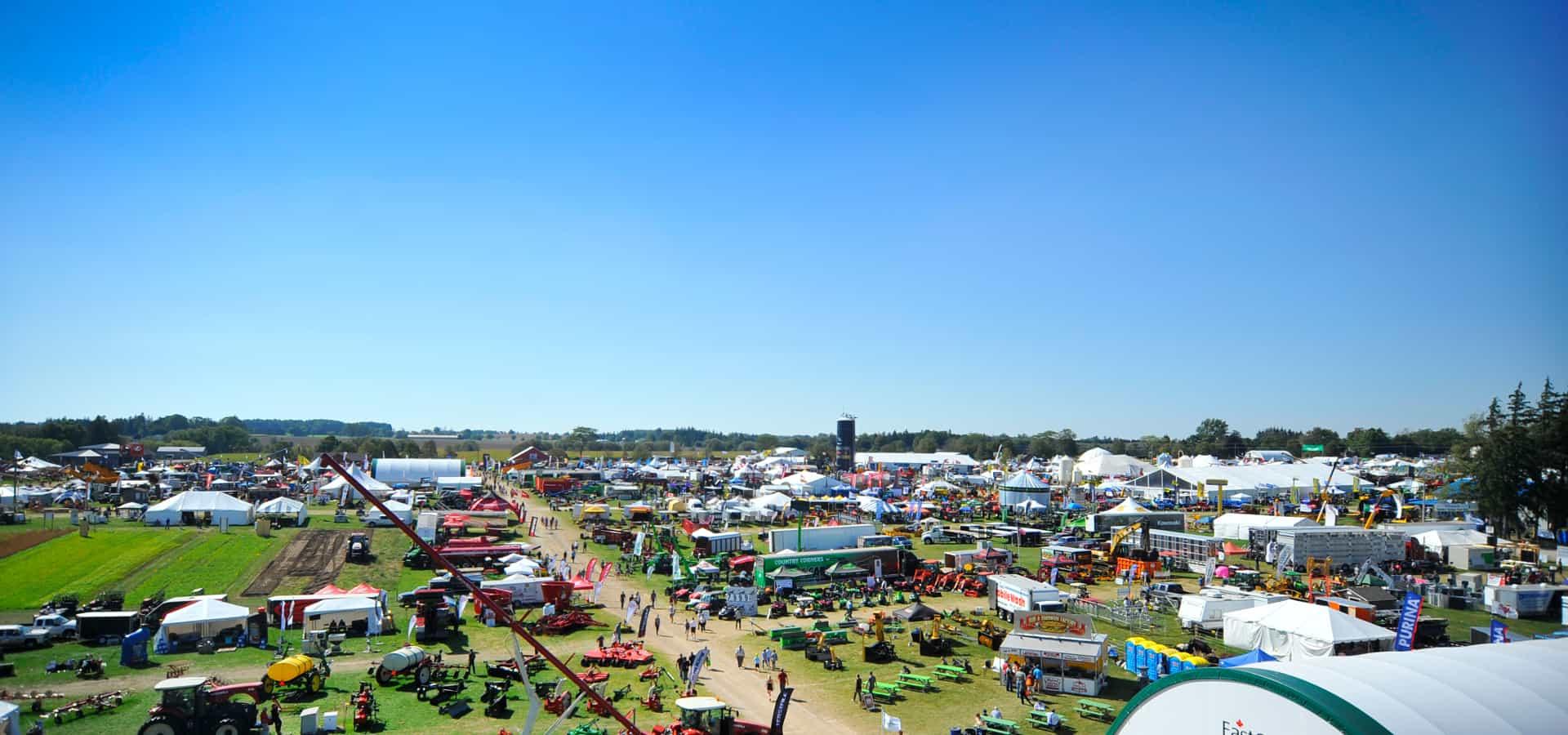 Canada's Outdoor Farm Show aerial photo